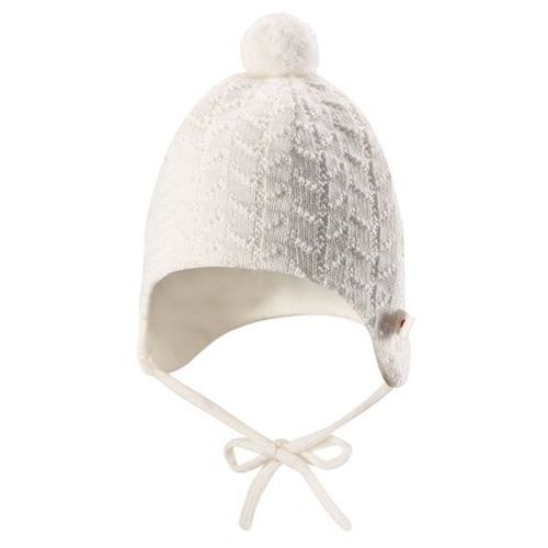 Czapka niemowlęca pompon  lintu biała marki Reima