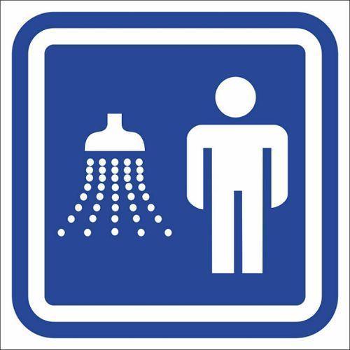 Oznaczenie drzwi - prysznic męski
