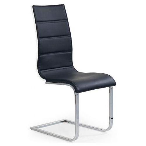 Krzesło metalowe Baster - czarne + biały połysk