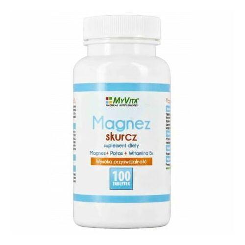 Magnez skurcz (magnez+potas+B6) 100 tabletek - Myvita (5906395684533)
