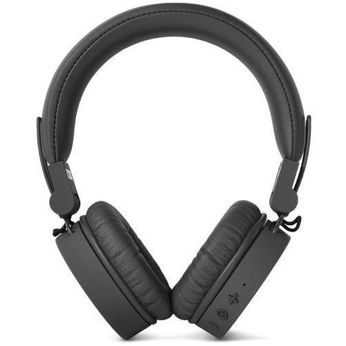 Słuchawki nauszne FRESH N REBEL Caps Concrete Bluetooth Czarny