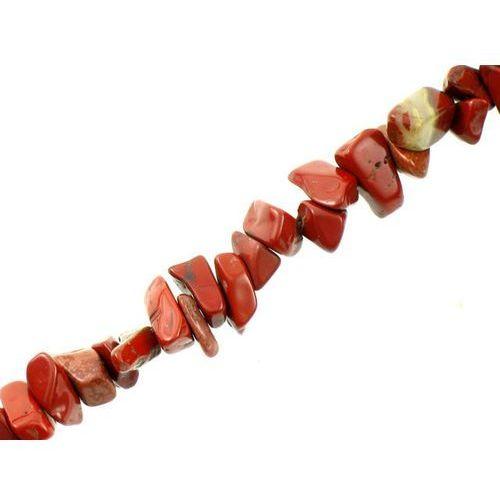 Kamień Jubilerski Jaspis Czerwony Sieczka Drobna 3~7mm 20szt