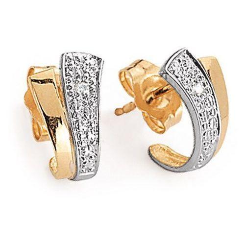 Złote kolczyki kxd0528 - diament marki Staviori