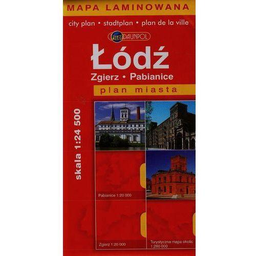 Łódź, Zgierz, Pabianice. Plan miasta 1:24 500. Mapa laminowana (2010)