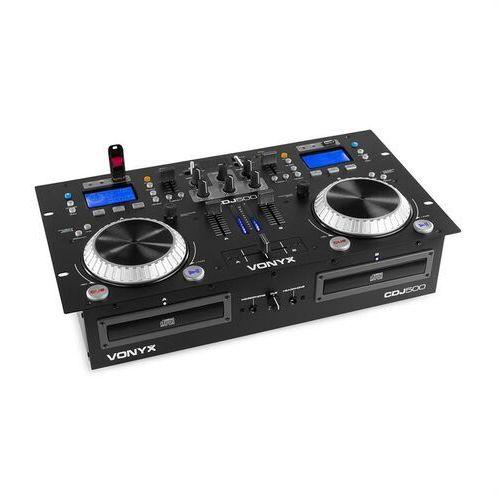 Vonyx Stanowisko Pracy CDJ500 DJ 200 W 2 Odtwarzacz CD BT 2 x Port USB 2-kanałowy mikser, 172.810