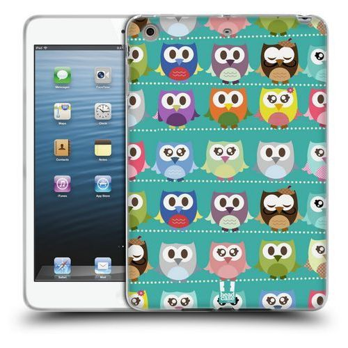 Head case Etui silikonowe na tablet - kawaii owl green pattern