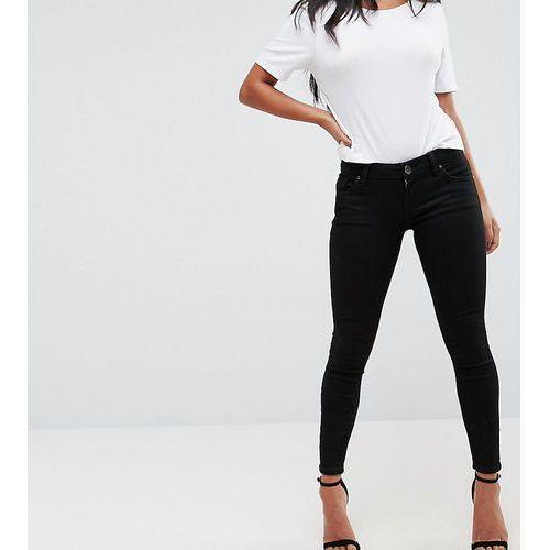 Asos design petite whitby low rise skinny jeans in clean black - black, Asos petite