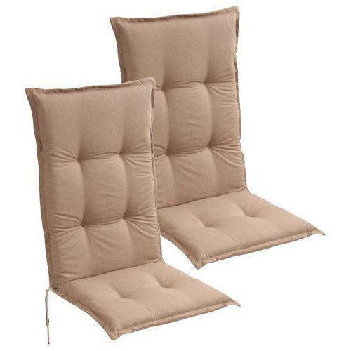 poduszki na krzesła ogrodowe 2 szt. 120x52 cm brązowe marki Vidaxl