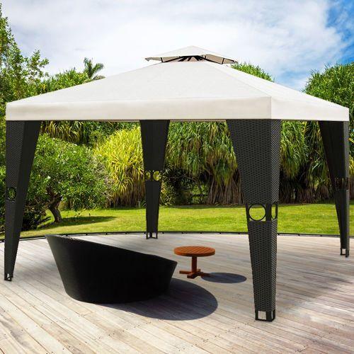 Wideshop Pawilon ogordowy luksusowa altana ogrodowa rattan, kategoria: pawilony i namioty ogrodowe