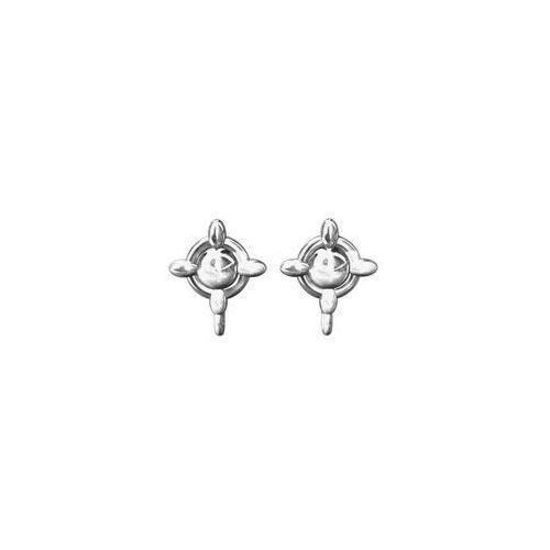 Sztyfty do kolczyków Kółeczka z ogniwkiem, srebro próba 925, SZ 59, SZ 59