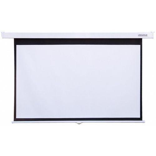 4world elektryczny ścienny/sufitowy ekran projekcyjny z pilotem 140x140 (1:1) matt white darmowa dostawa do 400 salonów !! (5908214361755)