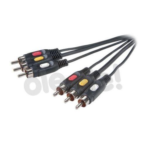 Kabel VIVANCO 3RCA - 3RCA 2m (4008928420296)