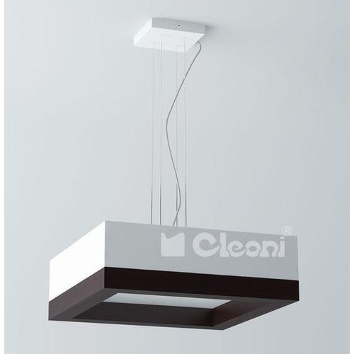 Cleoni Lampa wisząca amur 40 3x60w e27 biały mat żarówki led gratis!, 1306w41e117+