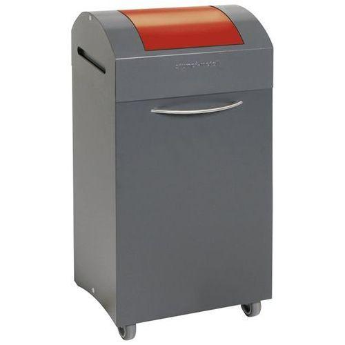 Pojemnik na surowce wtórne z blachy stalowej, gaszenie płomieni, poj. 60 l, wrzu