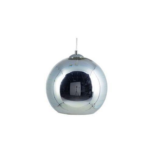 Lampa wisząca szklana srebrna NURE