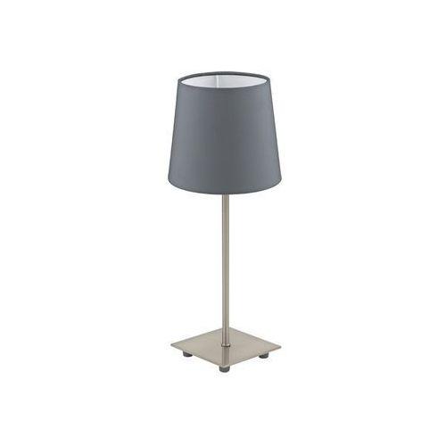 Eglo lauritz lampa stołowa nikiel matowy