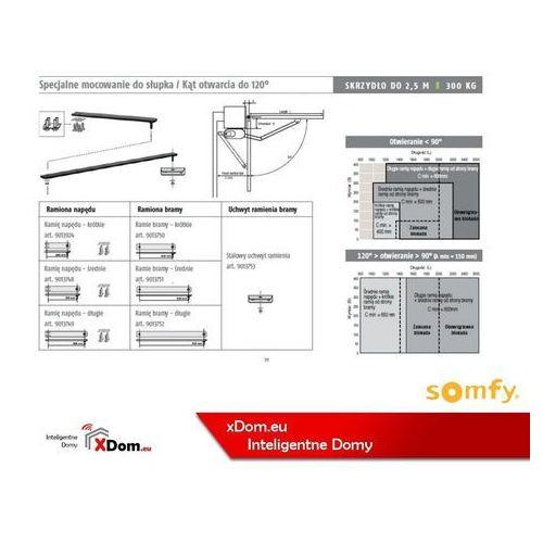 9013750 ramię krótkie axovia multipro 420 mm od strony bramy marki Somfy