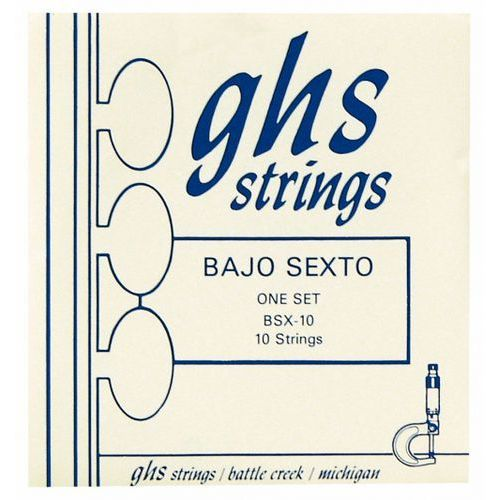 Ghs bajo sexto, struny do gitary akustycznej, loop end 10 string,.024-.078