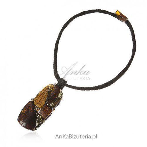 858271b0cc95ea ankabizuteria.pl Artystyczna biżuteria z bursztynem i kamieniami swarovski,  kolor pomarańczowy