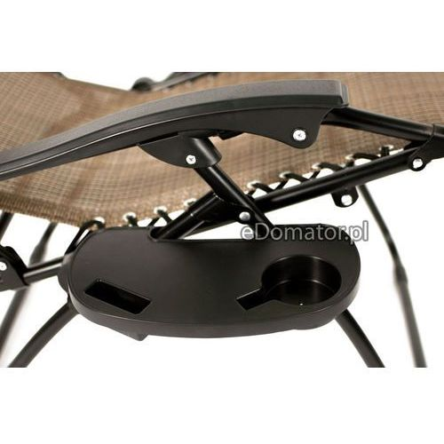LEŻAK OGRODOWY ZERO GRAVITY z podstawką - szary - Szary - produkt z kategorii- Leżaki ogrodowe