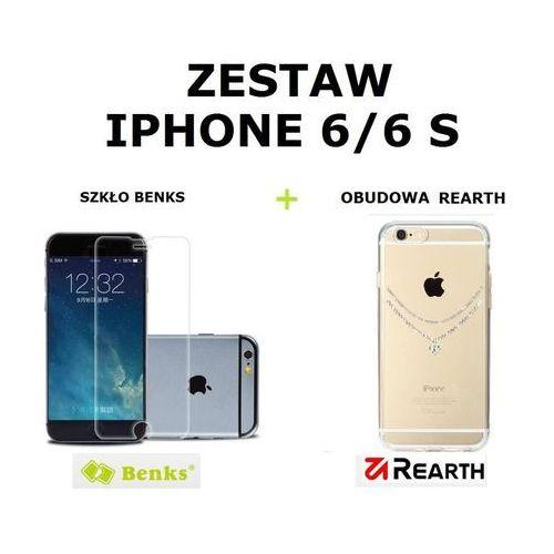 Benks Zestaw szkło ochronne  okr + 0,3 mm + obudowa rearth ringke noble necklace clear apple iphone 6 / 6s