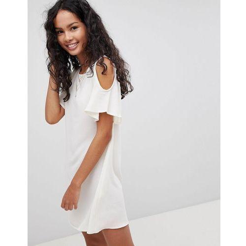 cold shoulder dress - white marki Glamorous