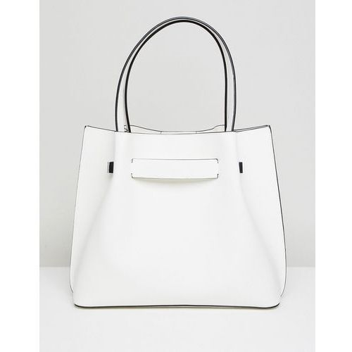 New look tote with hardware detail - white