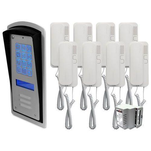 Zestaw 8-rodzinny panel domofonowy wielorodzinny z szyfratorem RADBIT BRC10 MOD, ZR12325