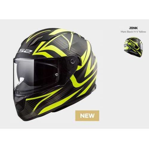 Ls2 Kask motocyklowy kaskkask motocyklowy ff320 stream evo jink matt bl-h-v yellow