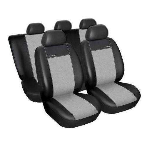 Skórzane pokrowce samochodowe miarowe PREMIUM CZARNO-SZARE Opel Zafira B 2005-2014r., 5901821195263