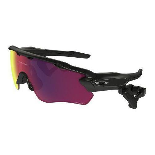 Okulary radar pace polished black/prizm road + clear oo9333-0137 marki Oakley