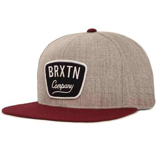 czapka z daszkiem BRIXTON - Gaston Light Heather Grey/Burgundy (0375) rozmiar: OS