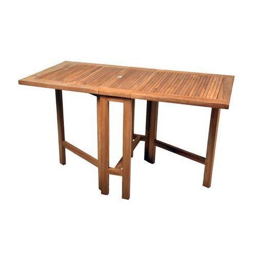 Stół drewniany ogrodowy składany DIVERO z drewna teakowego