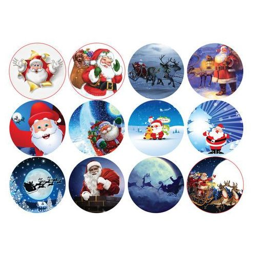 Opłatki na muffiny babeczki świąteczne mikołaje - mikołaje marki Modew