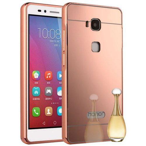 Mirror Bumper Metal Case Różowy | Etui dla Huawei Honor 5X - Różowy (Futerał telefoniczny)