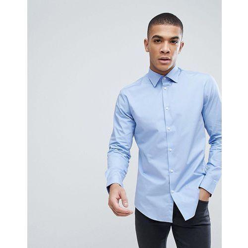 Esprit Slim Fit Cotton Poplin Shirt In Light Blue - Blue