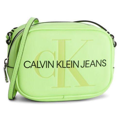 Calvin klein jeans Torebka - sculpted monogram camera bag k60k605524 070