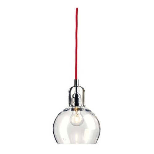 LAMPA wisząca LONGIS I 10124109 Kaspa szklana OPRAWA minimalistyczny ZWIS przezroczysty czerwony (5902047300295)