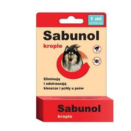 sabunol krople przeciw pchłom i kleszczom dla psów o wadze 5-10kg 1ml marki Dermapharm