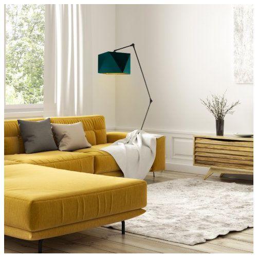 Nowoczesna lampa do salonu z włącznikiem nożnym osaka gold marki Lysne