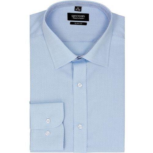 Recman Koszula bexley 2295 długi rękaw slim fit niebieski