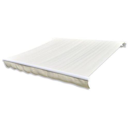 Vidaxl markiza przeciwsłoneczna kremowe płótno 4 x 3 m (bez stelażu)