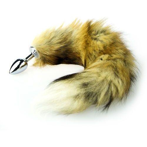 Korek analny długi lisi ogon stal nierdzewna 45cm