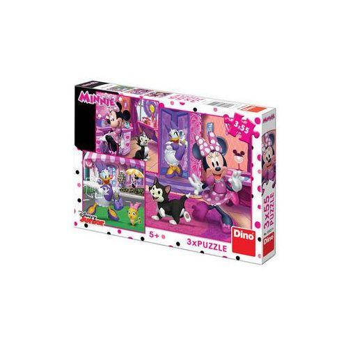 Den s minnie - puzzle 3x55 dílků marki The walt disney company