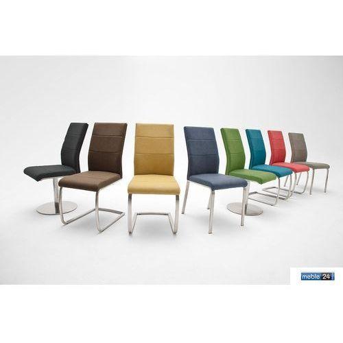 Krzesła z ekoskóry ORES B Stal Szlachetna Różne Kolory, kolor różowy