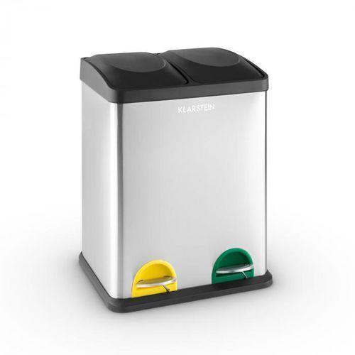 ekosystem 2 x 18 pedałowy kubeł pojemnik na śmieci 36 l recycling marki Klarstein