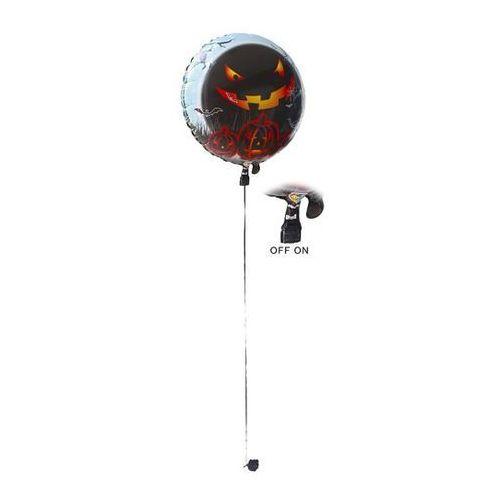 Balon foliowy LED Straszna Dynia na Halloween - 62 cm - 1 szt.