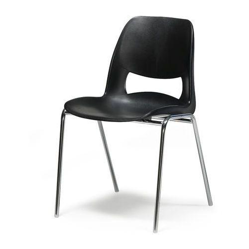 Krzesło houston z tworzywa sztucznego czarny marki Aj