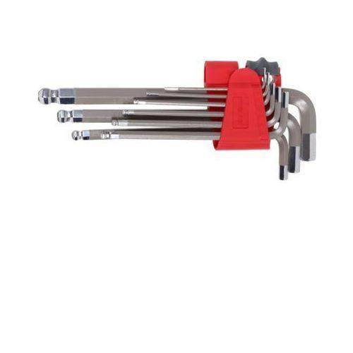 PROLINE 48330 Klucze imbusowe z kulką, kpl. 9szt., 1.5-10mm, S2, 48330
