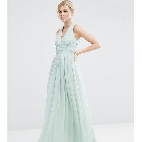 Asos petite  wedding hollywood maxi dress - blue